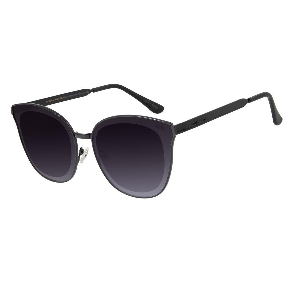 Óculos de Sol Feminino Chilli Beans Quadrado Metal Preto OC.MT.2664-2001