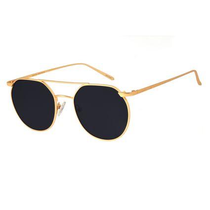 Óculos de Sol Unissex Chilli Beans Redondo Metal Dourado OC.MT.2685-0121