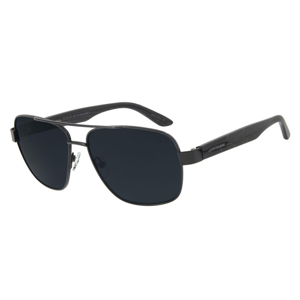Óculos de Sol Masculino Chilli Beans Executivo Metal Preto OC.MT.2711-0101