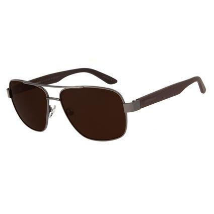 Óculos de Sol Masculino Chilli Beans Executivo Metal Ônix OC.MT.2711-0222