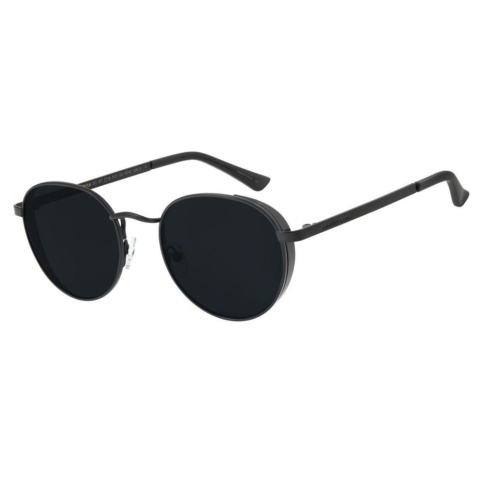 Óculos de Sol Unissex Chilli Beans Redondo Metal Preto OC.MT.2716-0101