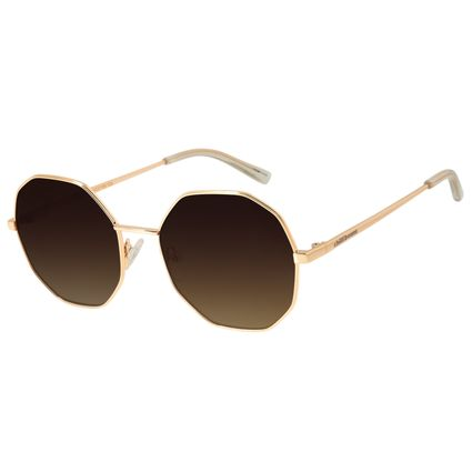Óculos de Sol Feminino Chilli Beans Redondo Metal Dourado OC.MT.2732-5721
