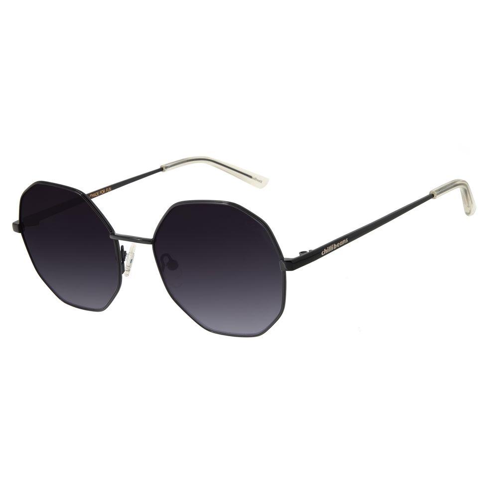 Óculos de Sol Feminino Chilli Beans Redondo Metal Preto OC.MT.2732-2001