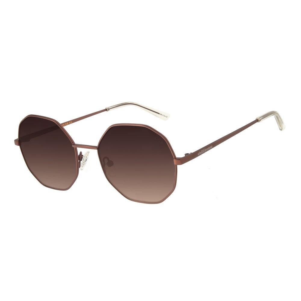 Óculos de Sol Feminino Chilli Beans Redondo Metal Marrom OC.MT.2732-5702