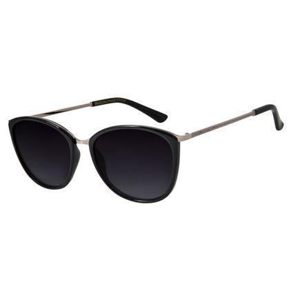 Óculos de Sol Feminino Chilli Beans Polarizado Preto Brilho OC.CL.2223-2030