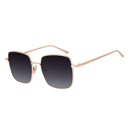 Óculos de Sol Feminino Chilli Beans Banhado A Ouro Preto OC.MT.2573-2030