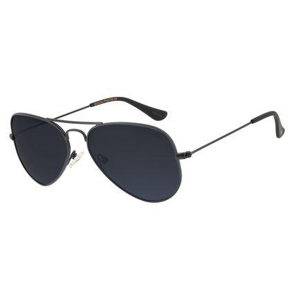 Óculos De Sol Chilli Beans Unissex Polarizado Aviador Preto OC.MT.2512-0001