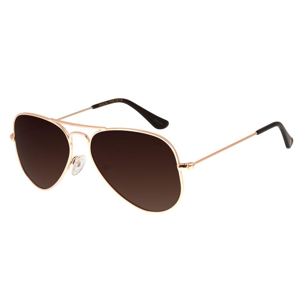 Óculos De Sol Chilli Beans Unissex Polarizado Aviador Rosê OC.MT.2512-0295