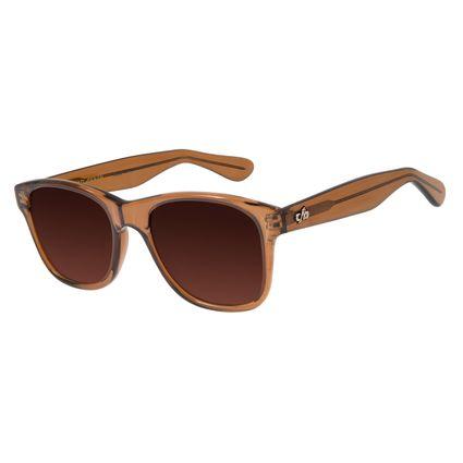 Óculos De Sol Unissex Chilli Beans Bossa Nova Marrom Escuro OC.CL.1549-5747