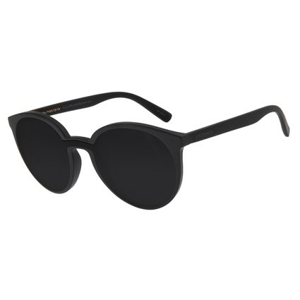 Óculos De Sol Feminino Chilli Beans Redondo Fosco Preto OC.CL.2770-0101
