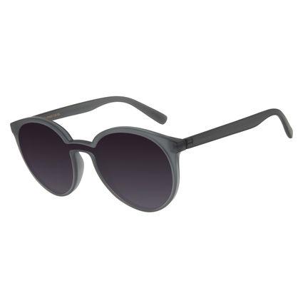 Óculos De Sol Feminino Chilli Beans Redondo Fosco Cinza OC.CL.2770-2004