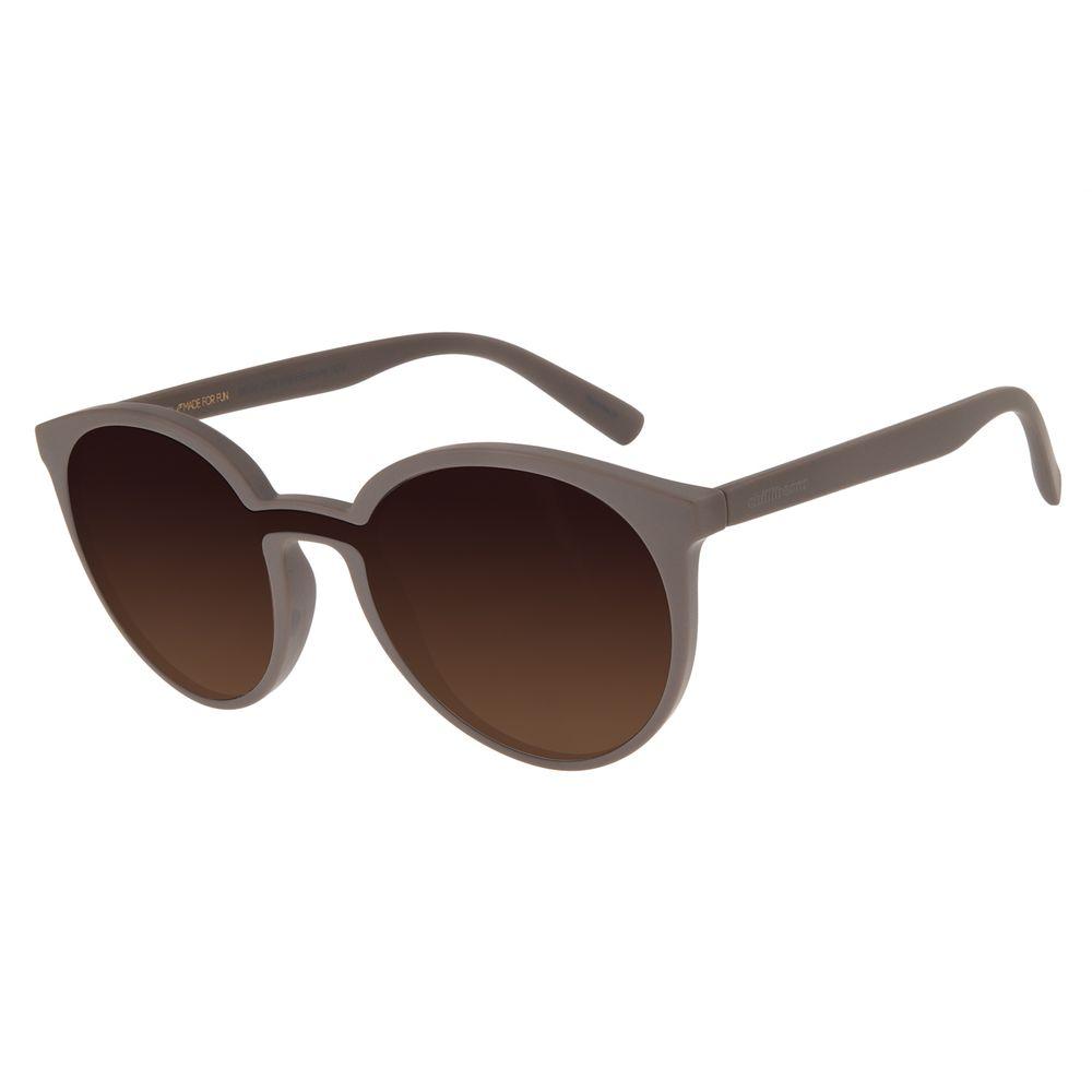 Óculos De Sol Feminino Chilli Beans Redondo Fosco Marrom OC.CL.2770-5702