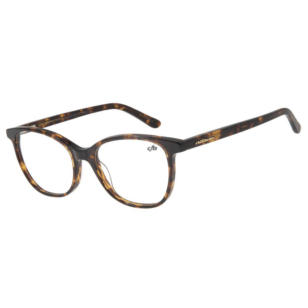 Armação Para Óculos De Grau Feminino Chilli Beans Quadrado Tartaruga LV.AC.0525-0606