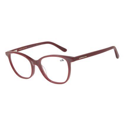 Armação Para Óculos De Grau Feminino Chilli Beans Quadrado Vinho LV.AC.0525-1717