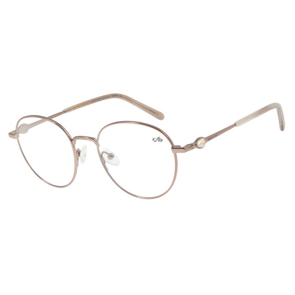 Armação Para Óculos De Grau Feminino Chilli Beans Metal Marrom LV.MT.0320-0202
