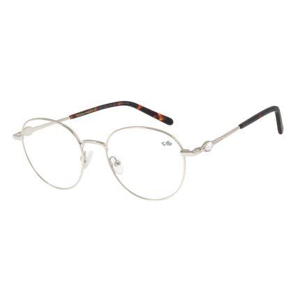 Armação Para Óculos De Grau Feminino Chilli Beans Metal Prata LV.MT.0320-0707