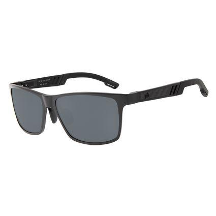Óculos De Sol Masculino Chilli Beans Quadrado Preto Polarizado OC.AL.0230-0001
