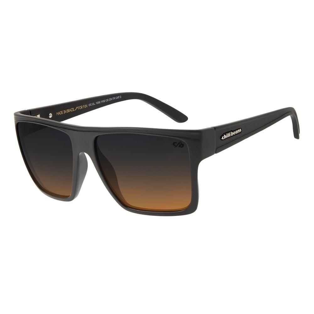 Óculos De Sol Unissex Chilli Beans Quadrado Marrom OC.CL.1058-1102