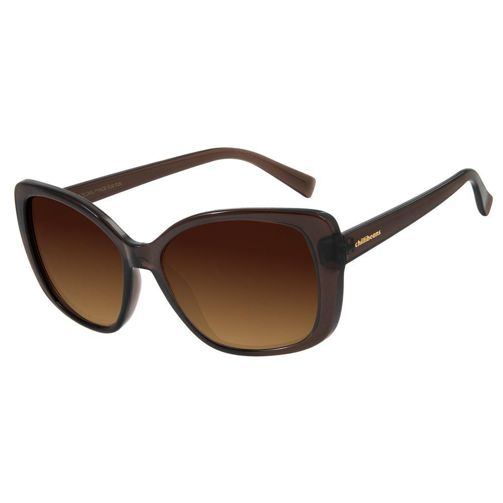 Óculos De Sol Feminino Chilli Beans Maxi Quadrado Marrom Escuro OC.CL.2846-5747