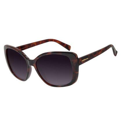 Óculos De Sol Feminino Chilli Beans Maxi Quadrado Tartaruga OC.CL.2846-5706