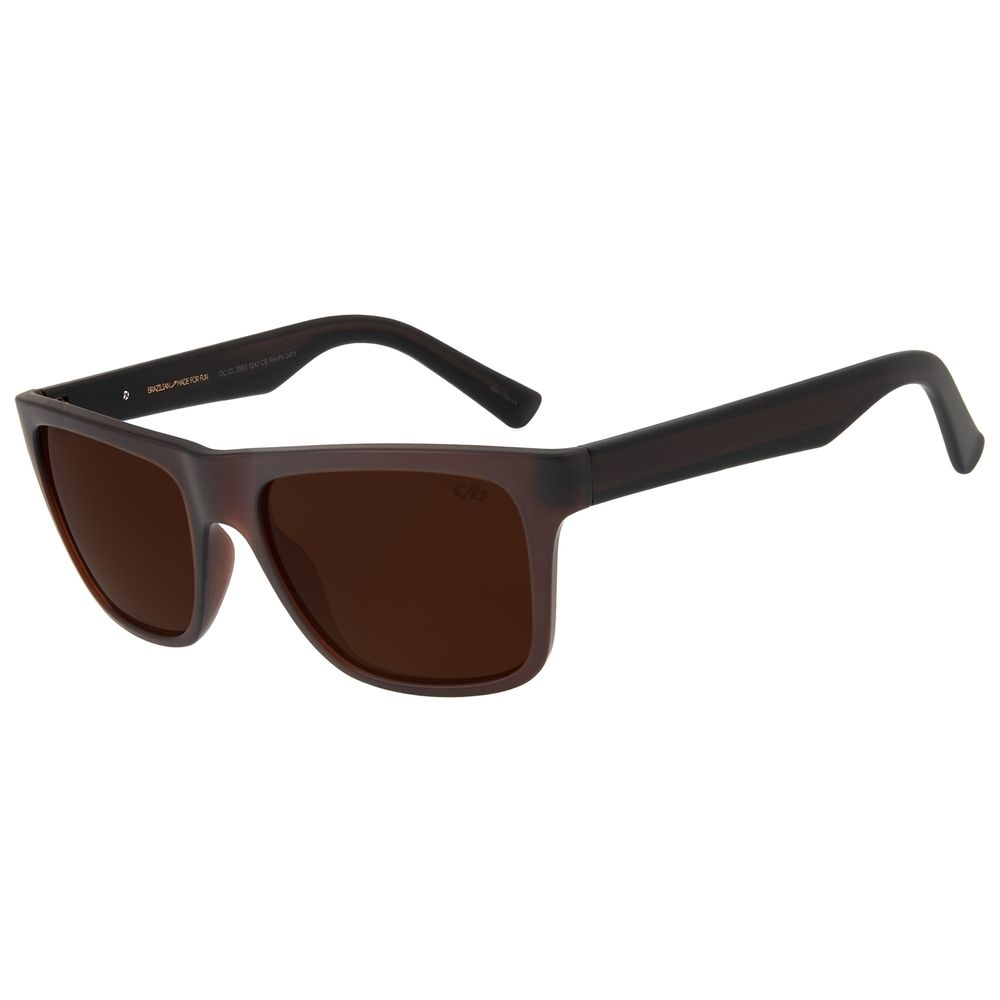 Óculos de Sol Masculino Chilli Beans Marrom Escuro Polarizado OC.CL.2863-0247