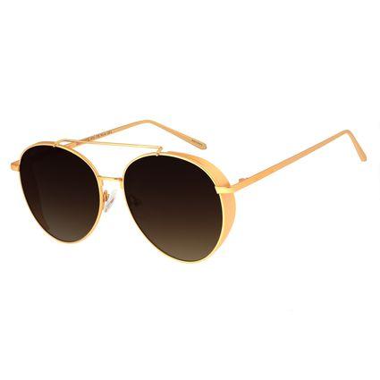 Óculos De Sol Feminino Chilli Beans Redondo Metal Dourado OC.MT.2722-5721