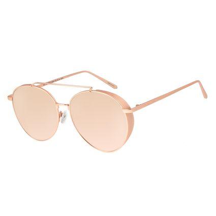 Óculos De Sol Feminino Chilli Beans Redondo Metal Rosê OC.MT.2722-9595