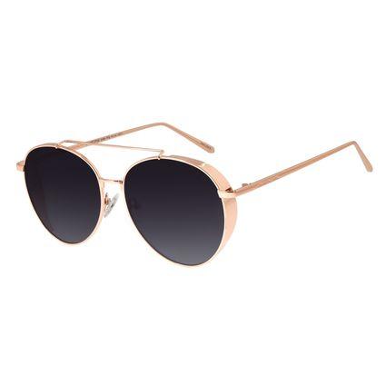Óculos De Sol Feminino Chilli Beans Redondo Metal Rosê OC.MT.2722-2095