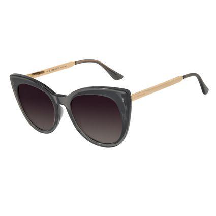 Óculos de Sol Feminino Chilli Beans Gatinho Cinza Polarizado OC.CL.2868-2004