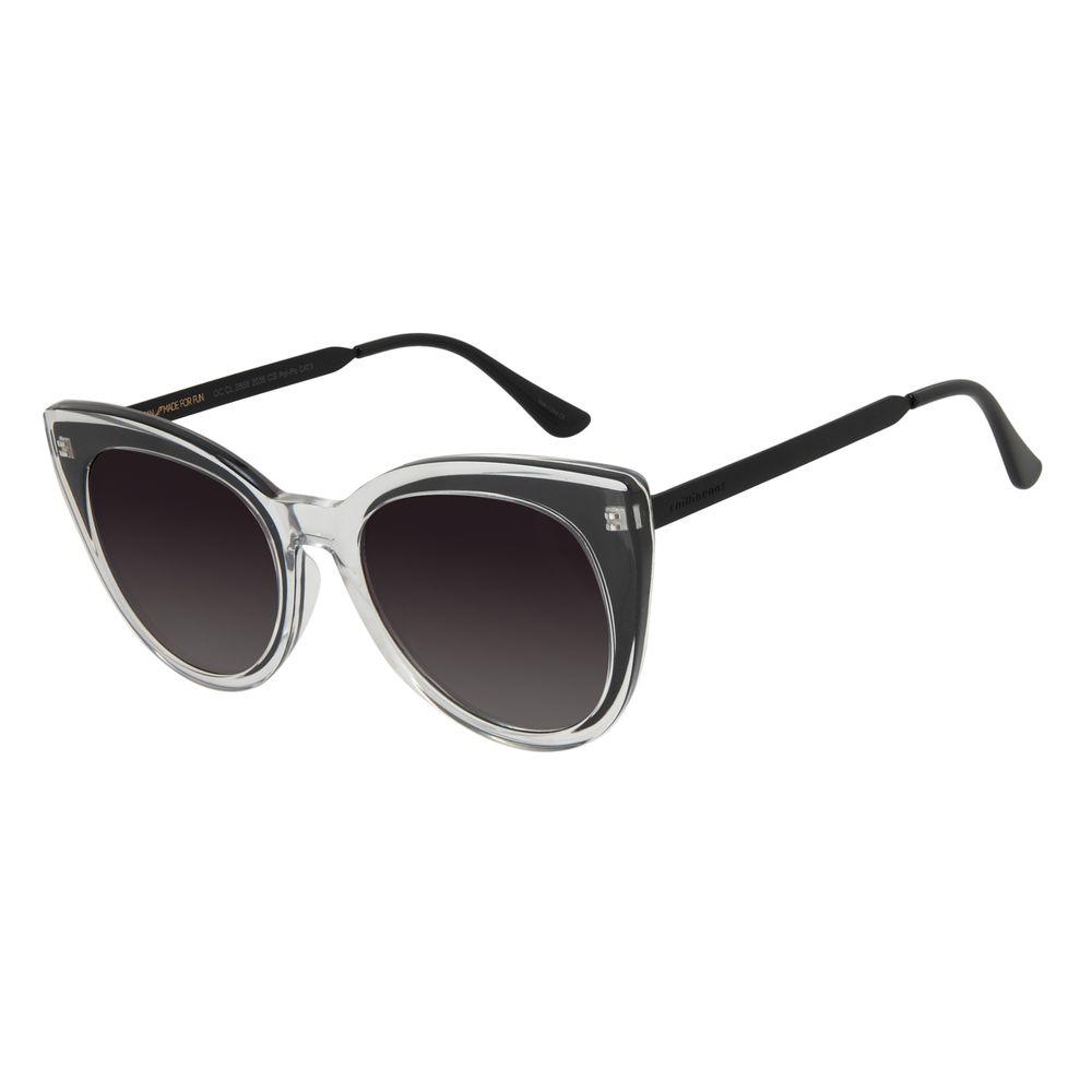 Óculos de Sol Feminino Chilli Beans Gatinho Transparente Polarizado OC.CL.2868-2036