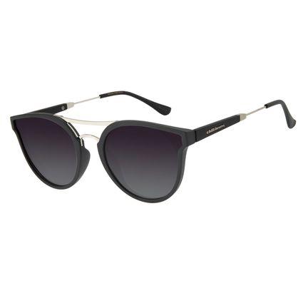 Óculos de Sol Feminino Chilli Beans Redondo Polarizado Preto OC.CL.2874-2001