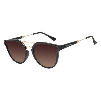 Óculos de Sol Feminino Chilli Beans Redondo Polarizado Degradê Marrom OC.CL.2874-5701