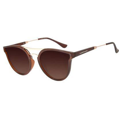 Óculos de Sol Feminino Chilli Beans Redondo Polarizado Marrom OC.CL.2874-5702