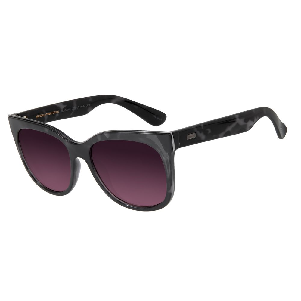 Óculos de Sol Feminino Chilli Beans Quadrado Tartaruga Polarizado OC.CL.2887-2006