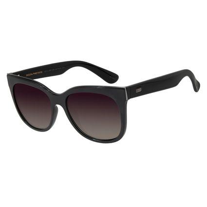 Óculos de Sol Feminino Chilli Beans Quadrado Preto Polarizado OC.CL.2887-2001