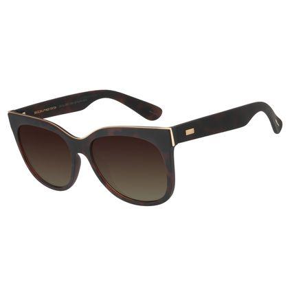 Óculos de Sol Feminino Chilli Beans Quadrado Degradê Marrom Polarizado OC.CL.2887-5706