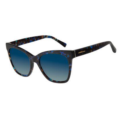 Óculos de Sol Feminino Chilli Beans Gatinho Tartaruga Azul OC.CL.2914-8306