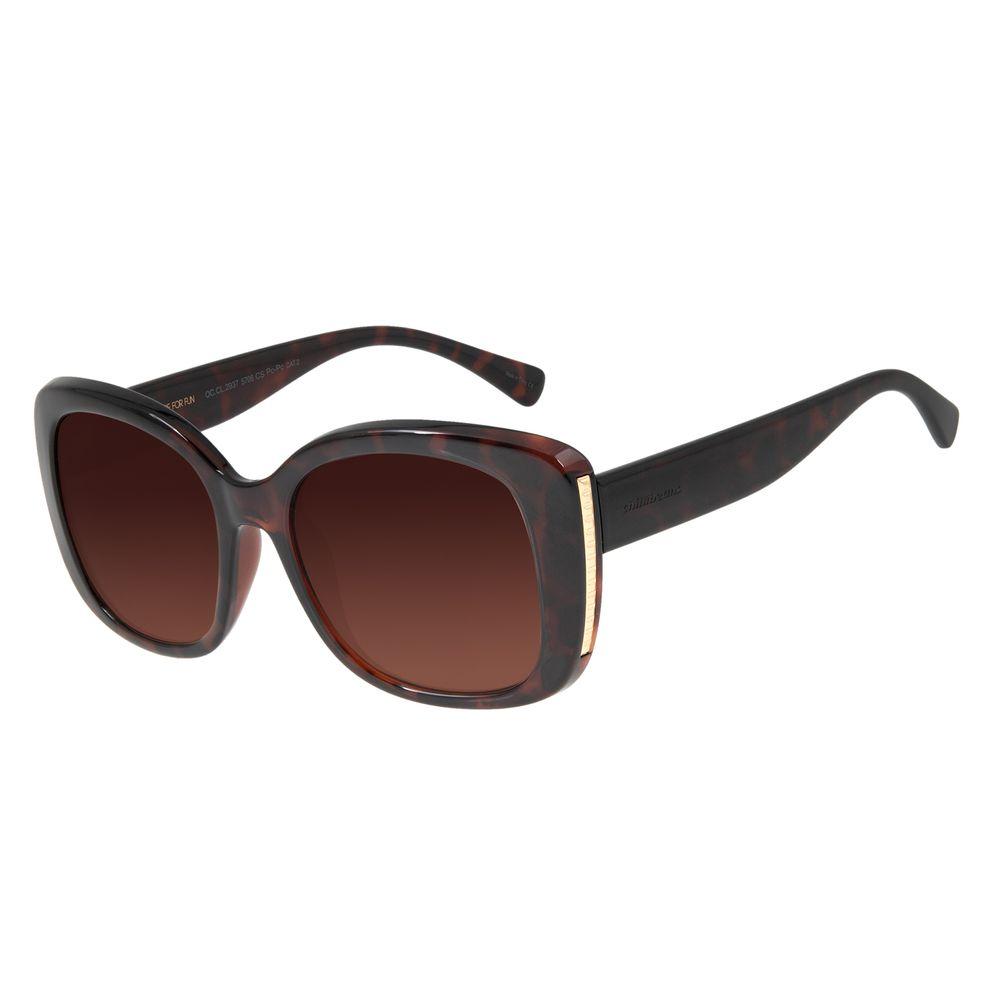 Óculos de Sol Feminino Chilli Beans Quadrado Tartaruga OC.CL.2937-5706