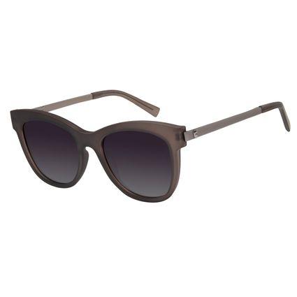 Óculos De Sol Feminino Chilli Beans Caveira Cinza Polarizado OC.CL.2867-0504