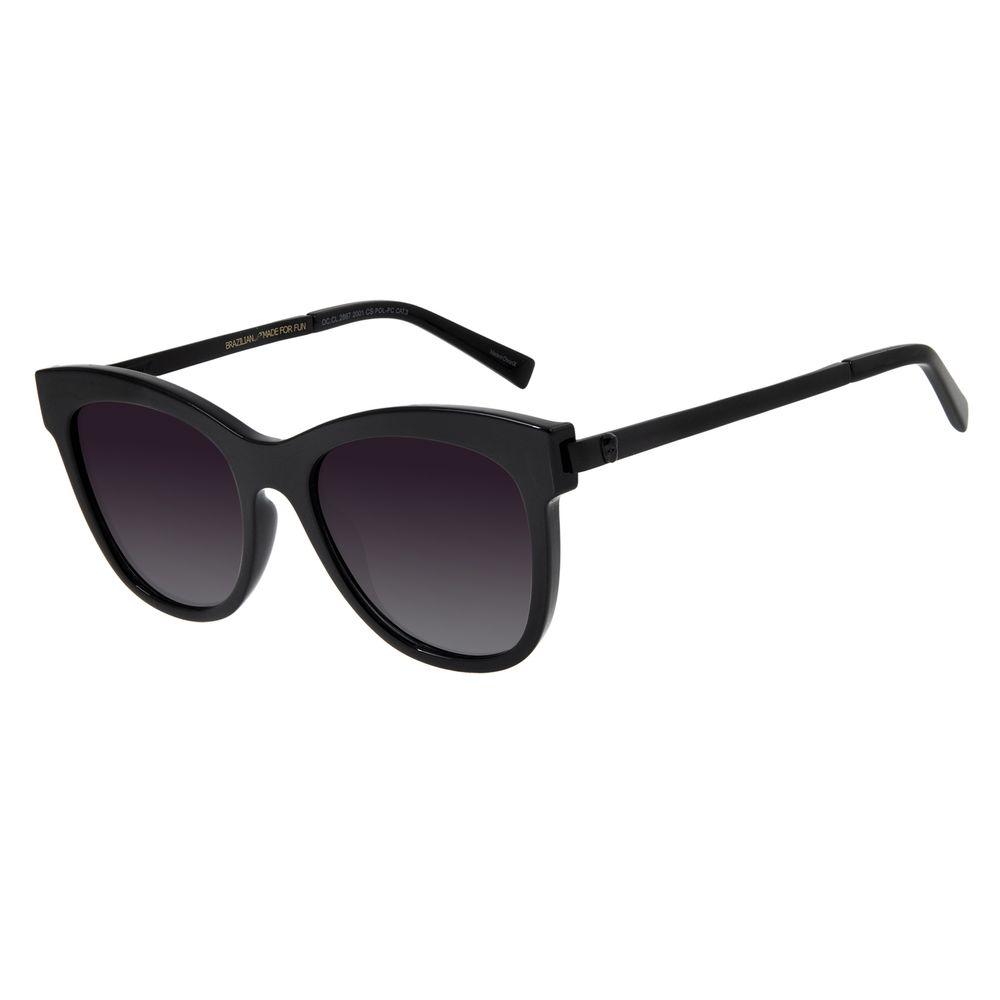 Óculos De Sol Feminino Chilli Beans Caveira Preto Polarizado OC.CL.2867-2001