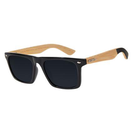 Óculos De Sol Masculino Chilli Beans Esportivo Preto Bamboo OC.ES.1173-0130