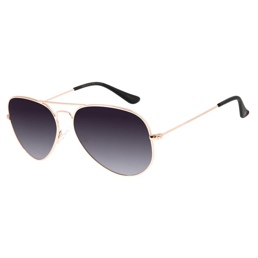 Óculos de Sol Unissex Chilli Beans Aviador Metal Rosê OC.MT.2513-2095