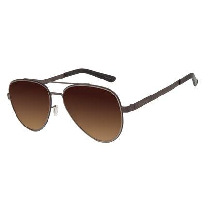 Óculos de Sol Feminino Chilli Beans Aviador Metal Marrom OC.MT.2701-5702
