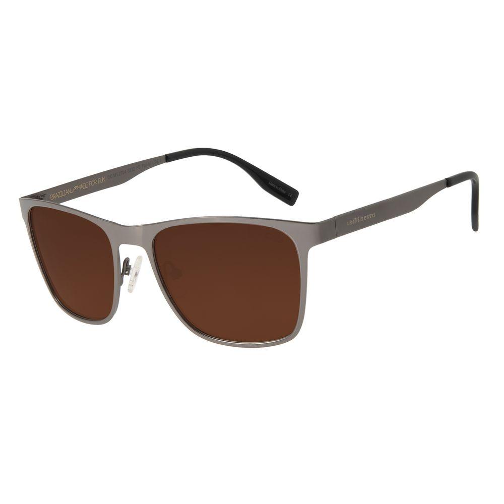 Óculos de Sol Masculino Chilli Beans Esporte Ônix Polarizado OC.MT.2704-0222