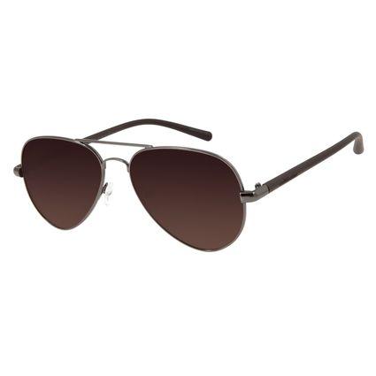 Óculos de Sol Unissex Chilli Beans Aviador Ônix Polarizada OC.MT.2709-2022