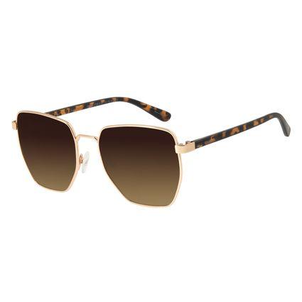 Óculos de Sol Feminino Chilli Beans Metal Quadrado Dourado OC.MT.2725-5721