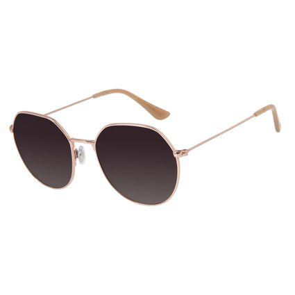 Óculos de Sol Feminino Chilli Beans Redondo Brilho Polarizada OC.MT.2729-2030