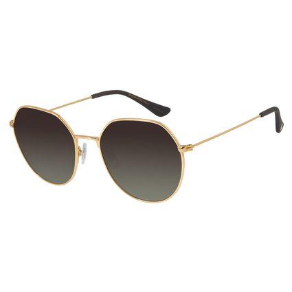 Óculos de Sol Feminino Chilli Beans Redondo Dourado Polarizada OC.MT.2729-5721