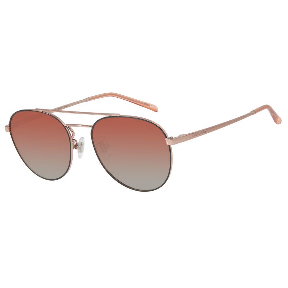 Óculos de Sol Unissex Chilli Beans Redondo Rosê Polarizado OC.MT.2733-2095
