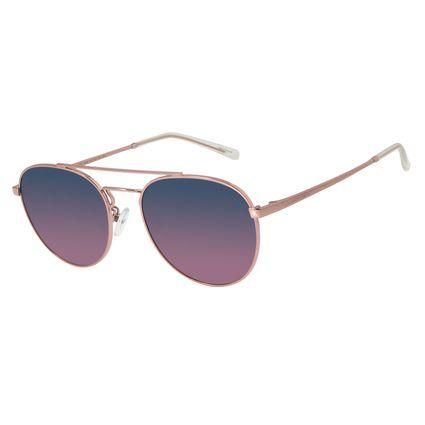 Óculos de Sol Unissex Chilli Beans Redondo Degradê Azul Polarizado OC.MT.2733-8395